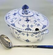 Royal Copenhagen Blue Fluted Full Lace Soup Tureen And Lid 1st Quality Perfect