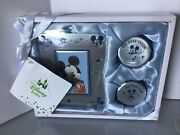 New Disney Baby Mickey Mouse Set Frame And Keepsake Boxes 1st Tooth And Curl Blue E