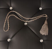 Gorgeous Sheryl Lowe Sterling Silver Pave All Diamonds Tassel Drop Necklace 108g