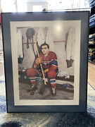 Signed Maurice The Rocket Richard Lithograph Painting - Mtl Canadiens 561/999