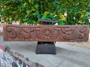 19th Antique Wooden Peacock Carved Door Panel Bracket Statue Figure Hand Carved