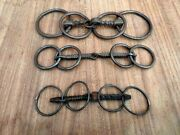 Old Iron Horse Bridle Hand Forged Unique Carved Horse Bridle Horse Bits 3 Pc