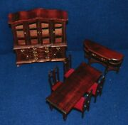 Vintage Wooden Hand Crafted Miniature Doll House Play Furniture Dining Room-l@@k