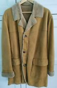 Pal Zileri Concept Shearling Sheepskin Leather Coat Size 46 Uk Rrp Andpound2000
