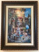 Cao Yong - Twilight By The Fountain, Long Sold Out, Hand Signed H/e 319/750