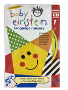Baby Einsteinlanguage Nurseryvhs And Cd Included Brand New Sealed