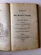 Shillibeer - Narrative Of The Britonand039s Voyage To Pitcairnand039s Island 1st Edition