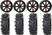 System 3 St-4 20 Wheels Red 35 Outback Maxand039d Tires Kawasaki Mule Pro Fxt
