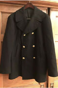 United States Navy Officers Peacoat Size 42 R Mens Vintage Andnbspbrass Buttons Woolandnbsp