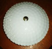 Vintage Polka Dot Hobnail Ruffled 14in Light Cover 2 Bulb Electric Ceiling Plate