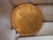 1780 Peru 8 Escudos Charles Iii Spanish Colonial Doubloon 8e Gold Coin