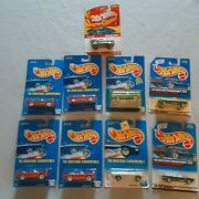 Hot Wheels Lot 9 Vintage Blue Cards ...hard To Find Mustang Only