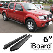 Stain Black 6 Iboard Side Step Nerf Bar Fit 05-21 Nissan Frontier Crew Cab