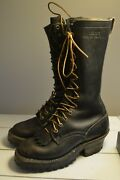 Whiteand039s Original Smokejumper Black Leather Boots 4.5 C Mens Womens 6