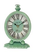 Ultima Regal Antique Style Green Table Clock