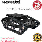 Tracked Tank Chassis Cnc Rc Tank Chassis Aluminum Alloy For Arduino Diy Kits Om