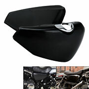 Black Battery Covers Fit For Harley Sportster Xl883 Xl1200 2014-2021 15 16 17 18