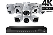Lorex 4k Nvr System W/ Eight 4k 8mp Nocturnal Varifocal Zoom Ip And Dome Camera