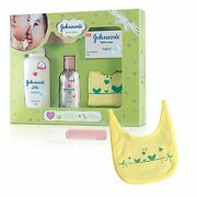 Johnsonand039s Baby Care Collection Gift Set 5 Piecewith Cotton Bib And Babycomb F.sh