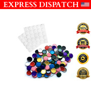 50x Flat Crown Double Sided Flattened Bottle Caps Crafts Diy Keychain Jewelry