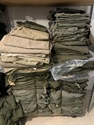 Lot Of 120 U.s. Military Issued Half Shelter Tent Canvas Only Ww2-vietnam Eras