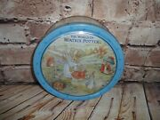The World Of Beatrix Potter Peter Rabbit Cookie Empty Collectors Tin 1992 Blue