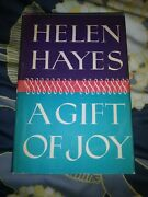 A Gift Of Joy By Lewis Funke And Helen Hayes Signed,1965, Hc, Dj Hollywood Bio