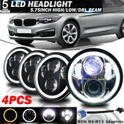 4pcs 5.75 5-3/4 Round Led Headlights Drl Projector Beam For Bmw Base 69-88 Us