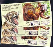 1999 Malaysia Special Lot 3 Fdcs Officially Sent By Registered Mail Rare Error