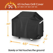 65 Inch Gas Grill Cover For 3 To 6 Burner Charbroil, Nexgrill, Weber, Brinkmann