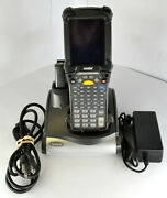 Symbol Mc92n0 Long Range Barcode Scanner With Charging Base And Extra Battery