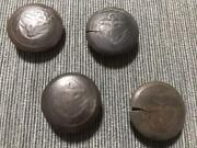 Ww2 Imperial Japanese Navy Nco Coat 4 Wooden Buttons Military Antique F/s