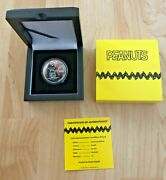 Peanuts 1 Oz Proof Silver Round Coin 70th Anniversary 2020 Mintage Only 70 Rare
