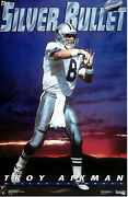 Vintage Troy Aikman Silver Bullet Costacos Brothers Full Wall Poster Sealed