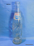 Retro Pepsi Bottle 10 Oz With Ls 81 Embossed Red White Blue Label