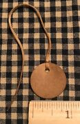 100 Primitive Coffee Stained Mini 1 Circle Antique Store Hang Tags Price Lot