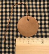 100 Primitive Coffee Stained Circle Round 1-3/4 Hang Tags Price Gift Farmhouse