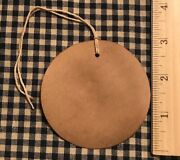 100 Primitive Coffee Stained 3 Large Circle Round Gift Hang Tags Price Lot