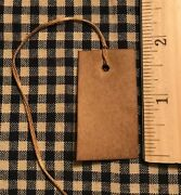 New 100 Primitive Coffee Stained 1-3/4 X 1 Antique Store Hang Tags Price
