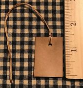 New 100 Primitive Coffee Stained 1-1/2 X 1 Antique Store Hang Tags Price