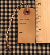 100 Small Dealer Antique Store Primitive Coffee Stained Price Hang Tags Lot