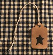25 Xsmall Star Coffee Stained Primitive Antique Store Price Gift Hang Tags Lot