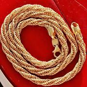 14k Yellow Gold Necklace 18.0 Fancy Twisted Rope Chain Handmade 12.0gr N160b