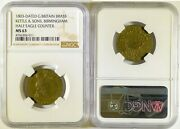 1803 Kettle And Sons Birmingham, England Brass Half Eagle Counter Token Ngc Ms63