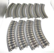 Lot Of 10 Mth Rail King Real Trax O-31 Curve Sections Track O Scale
