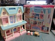 Vintage Fisher Price Loving Family Dream Dollhouse Folding Doll House With Box