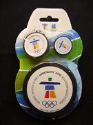 2010 Vancouver Olympic Games Souvenir Puck Pin Key Chain - Original Package