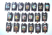 Complete 19 Pin Disney Dlr Annual Passholder E-ticket Mint Set On Mint Cards Le