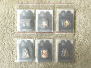 Disney Shopping Holiday Time Stained Glass Mint Set 6 - 74559 Pins Le 125 Moc
