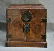 10 Old China Huang Huali Wood Dynasty Classical Drawer Jewelry Box Case Cabinet